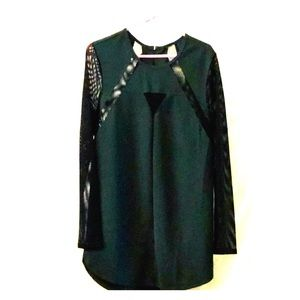 Hunter green short evening dress